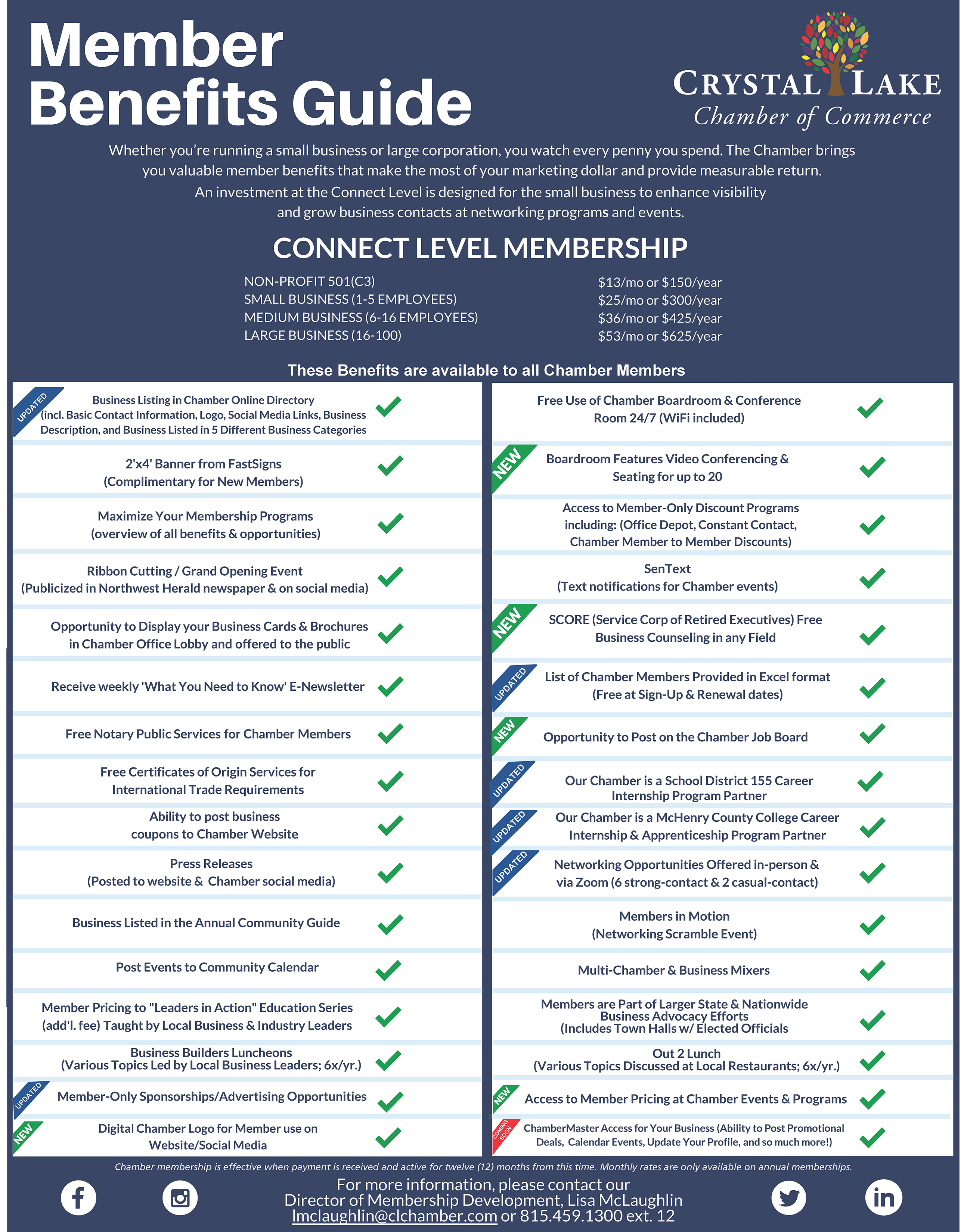 CLCC Membership Benefits Grid 9 2020