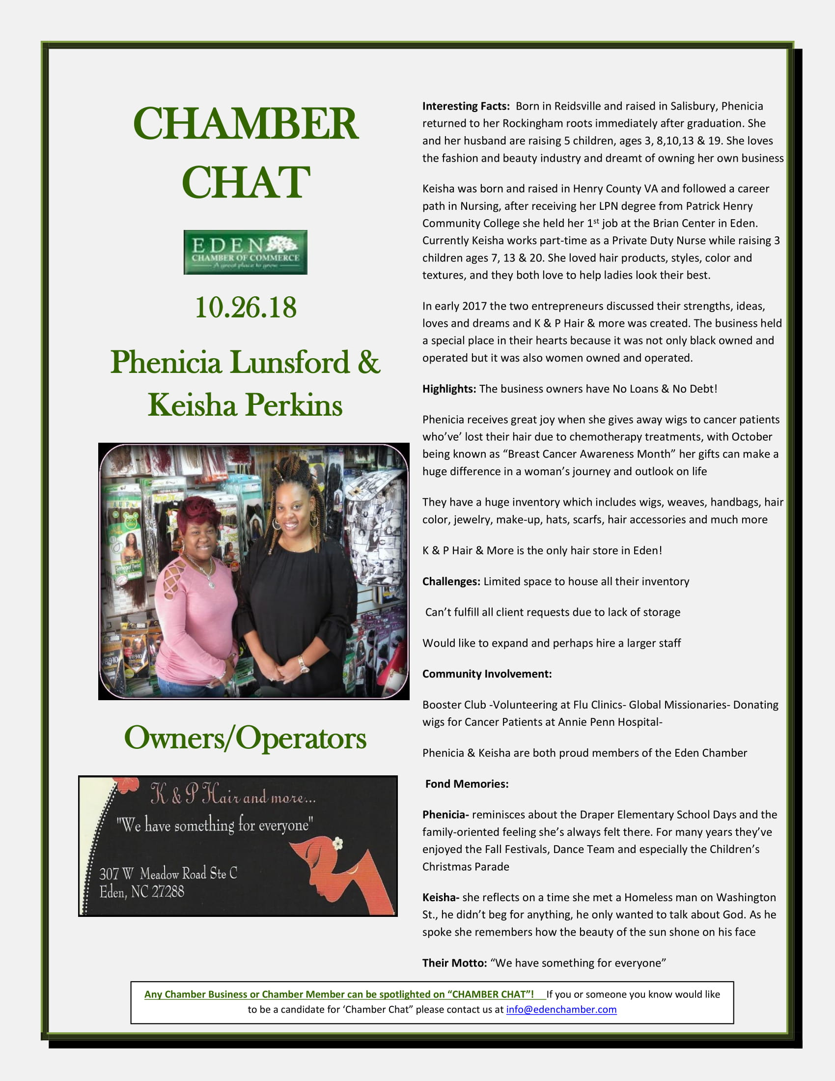 CHAMBER-CHAT--KandP-Hair-Phenecia-and-Keisha-10.25.18-1