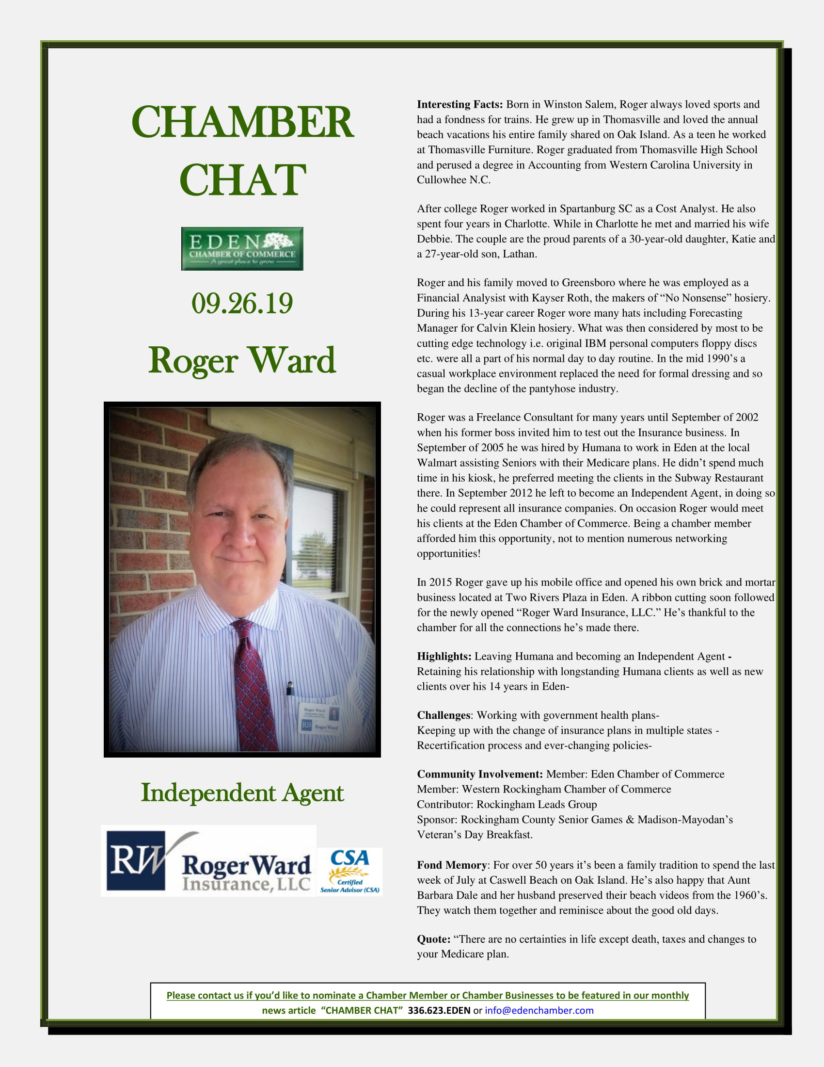 CHAMBER-CHAT-Roger-Ward--Independent-Insurance-Agent-9.26.19-1