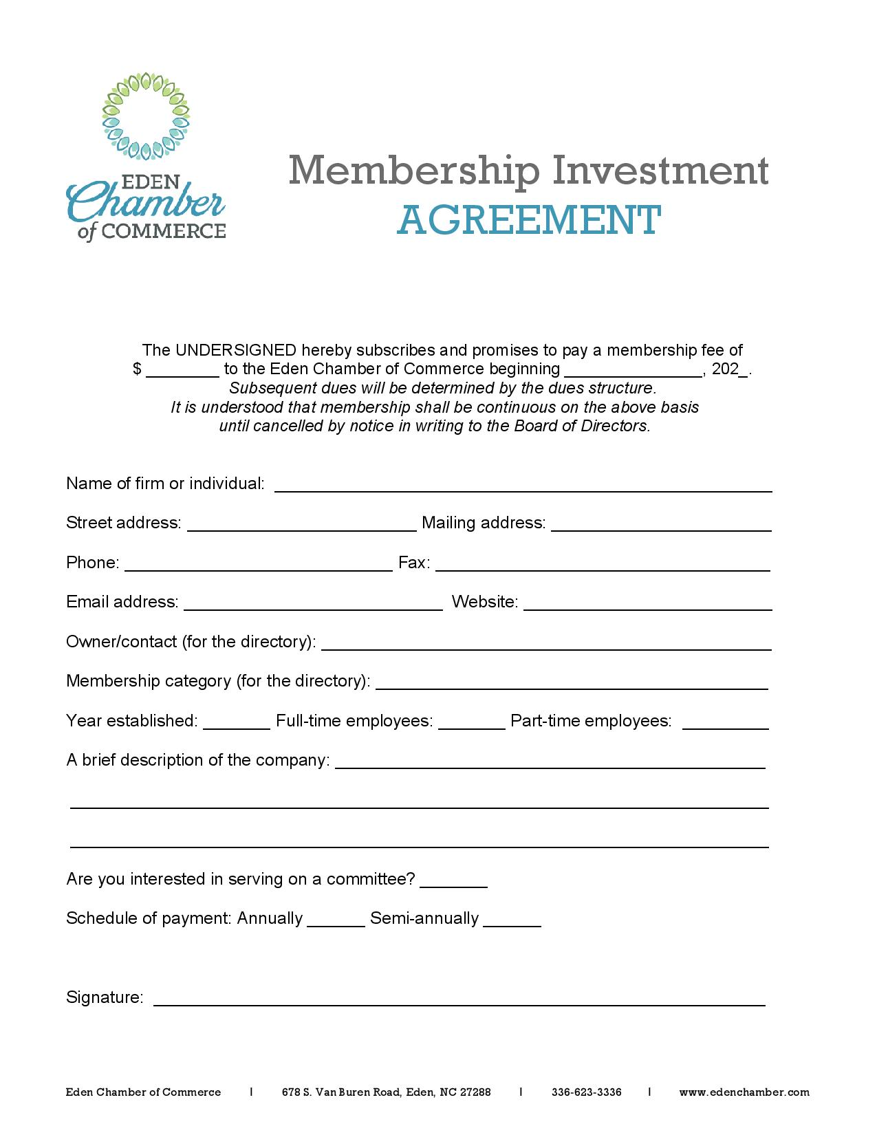 Chamber Member Agreement-page-001