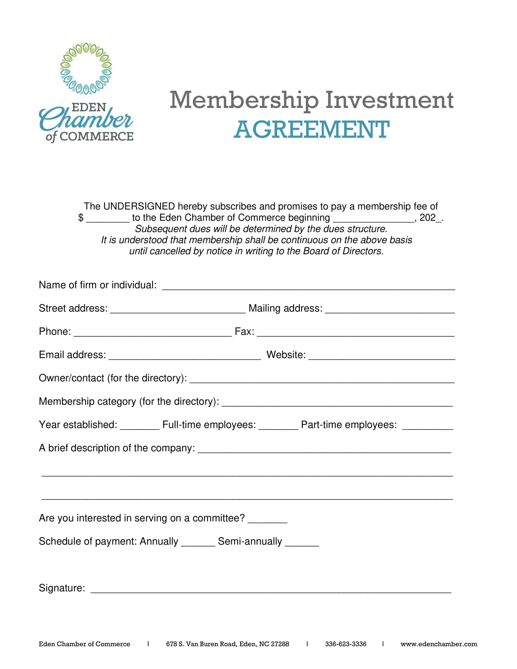 Chamber Member Agreement-2021-1