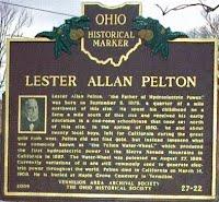Lester Allan Pelton Historical Marker