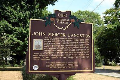 John Mercer Langston Ohio Historical Marker