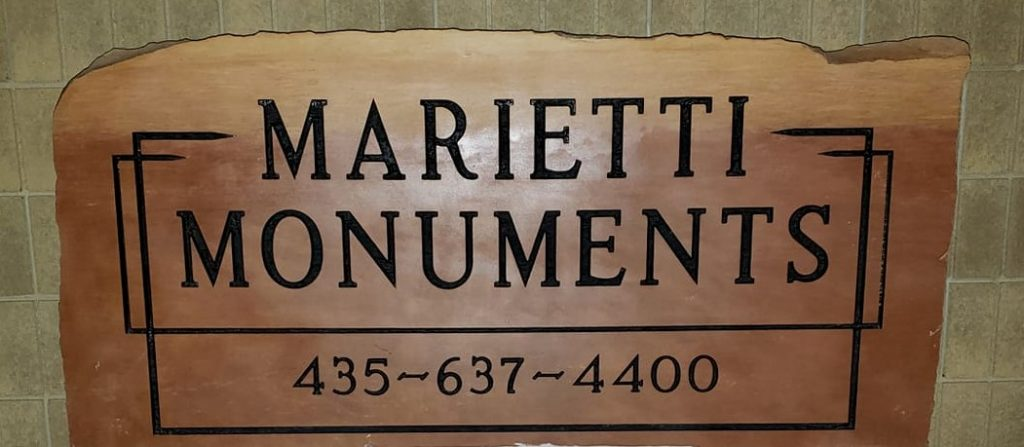 Marietti Monuments headstone