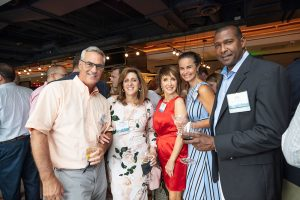 A group of NAIOP members at a networking event