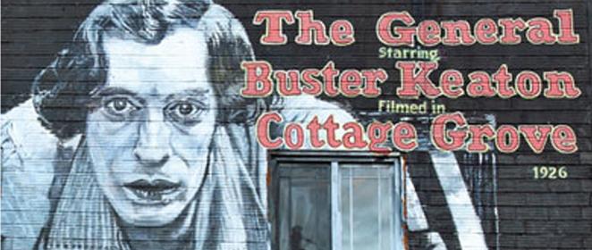 Buster Keaton Mural
