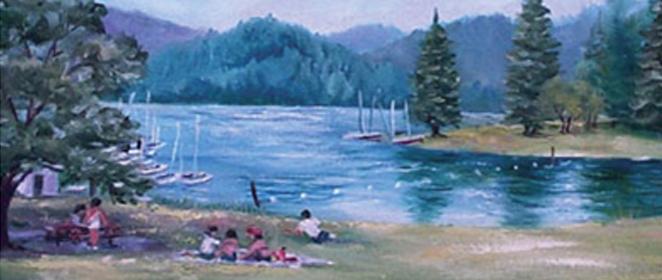 Baker Bay County Park and campground at beautiful Dorena Lake.