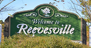 Reevesville welcome sign