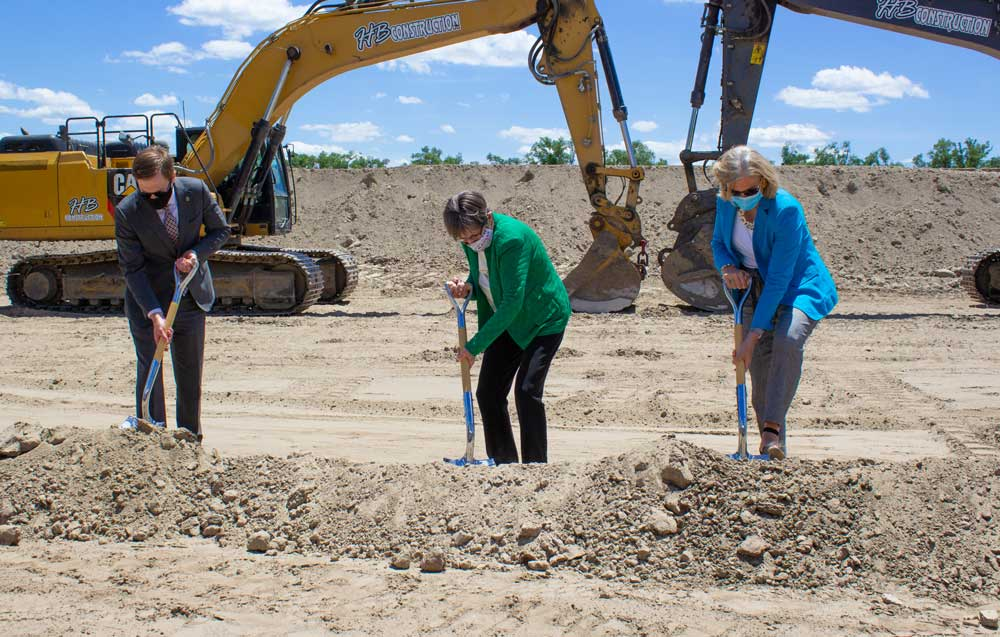 Shawnee Chamber Ground Breaking at Heartland Logistics Park with Governor Kelly