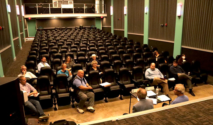 Visit Shawnee holds its Q2 2021 Advisory Committee meeting at the newly renovated Aztec Theater.