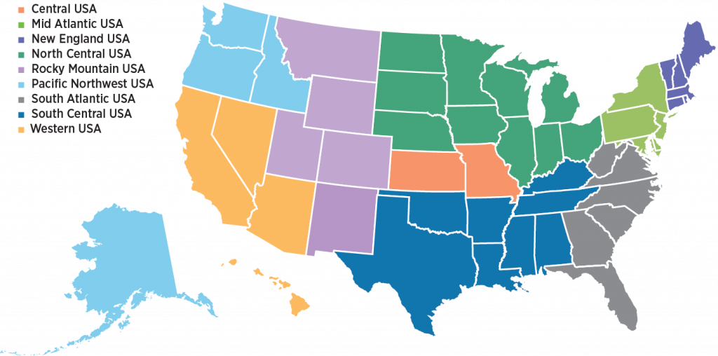 Chapters - US map