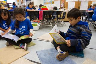 Kids reading in school