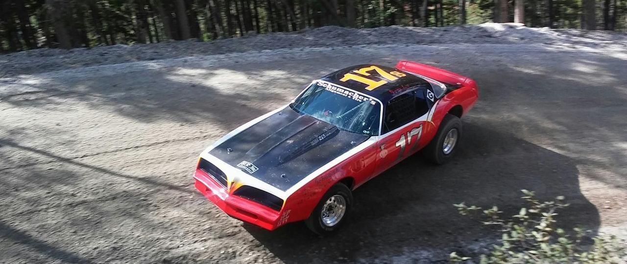 Classic Muscle car at hil climb