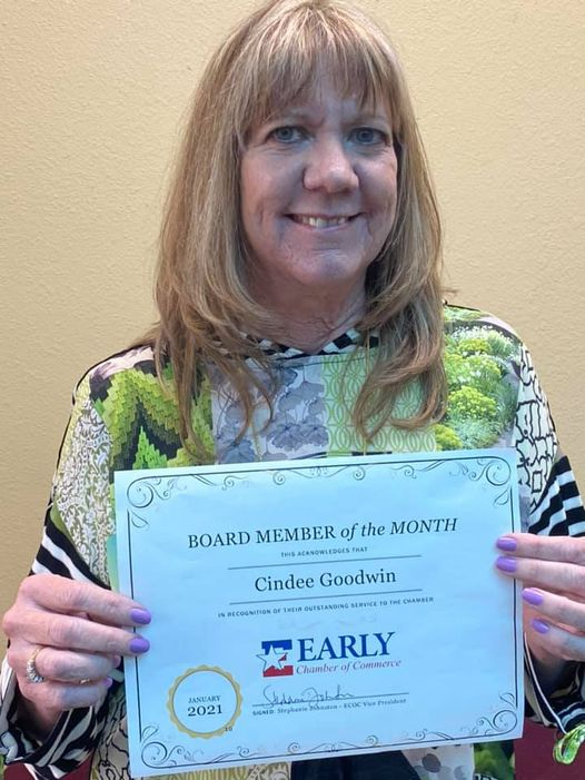January Board Member of the Month: Cindee Goodwin