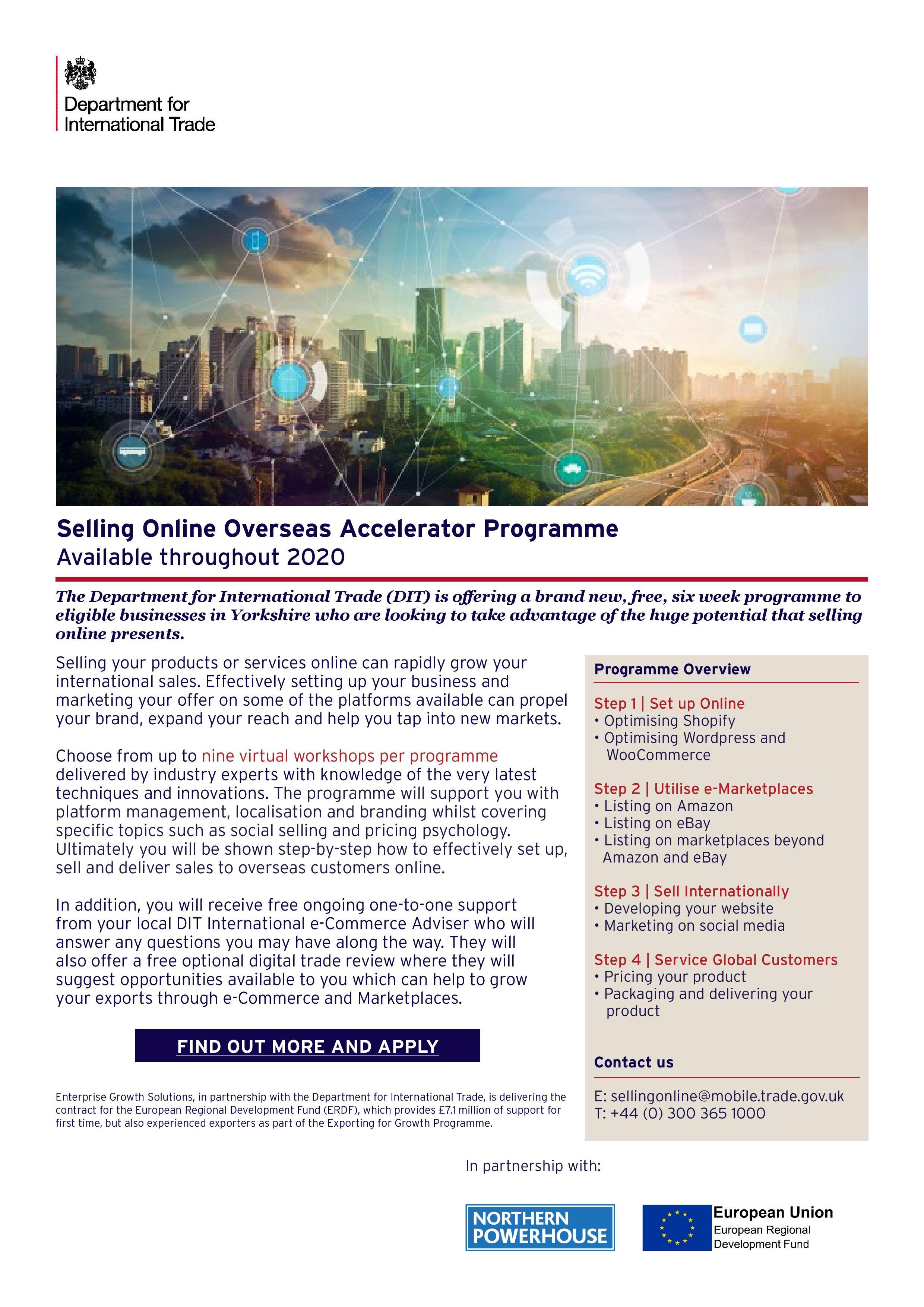 Selling Online Overseas Accelerator Programme