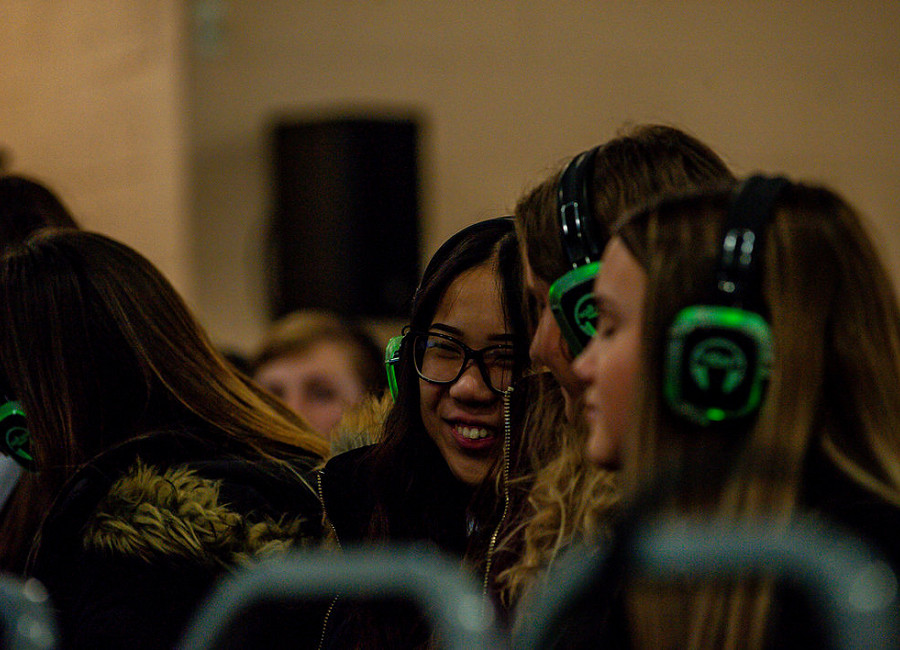 Students at the Discover LightForge silent disco career talk during Opportunities Doncaster LIVE, 13 February 2020