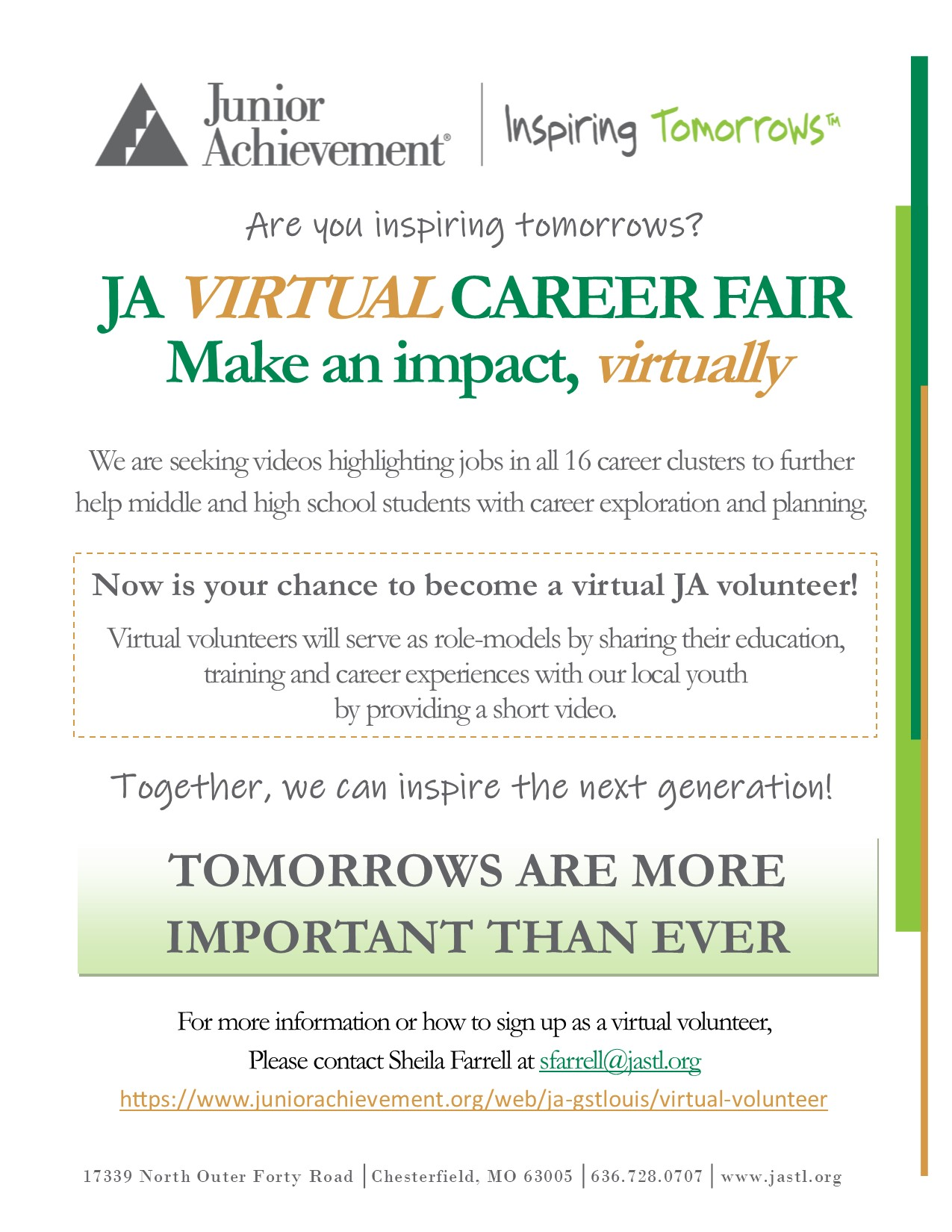 JA VIRTUAL Career Fair Flyer_VOLUNTEER_2021