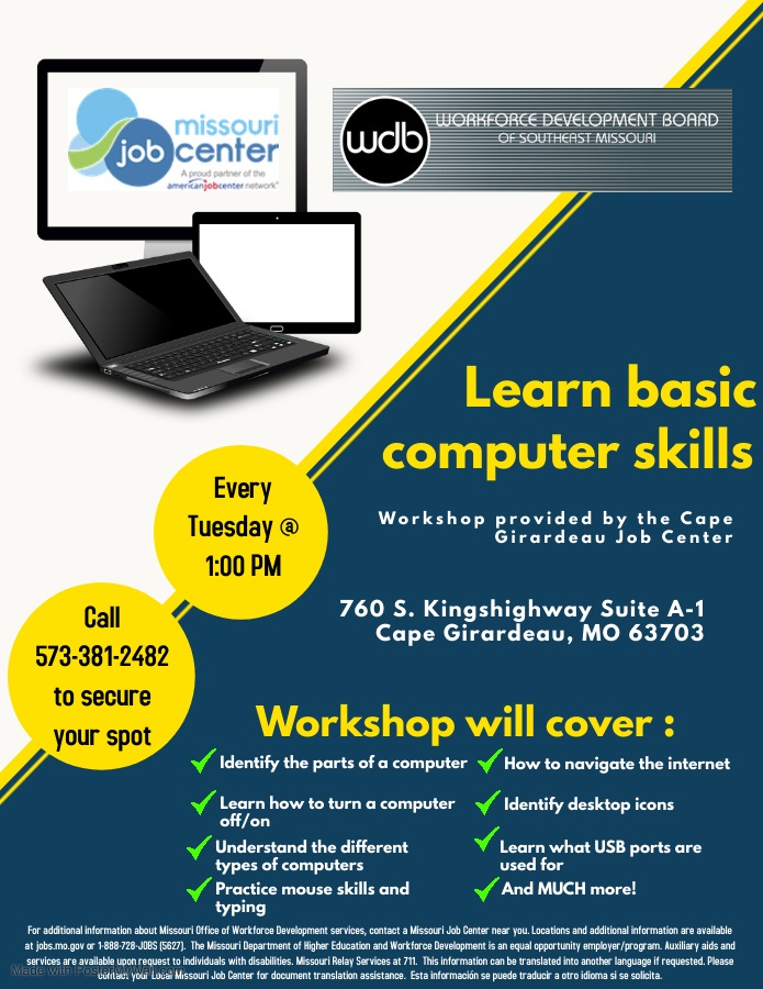 Basic Computer Workshop Cape JC Feb 2021