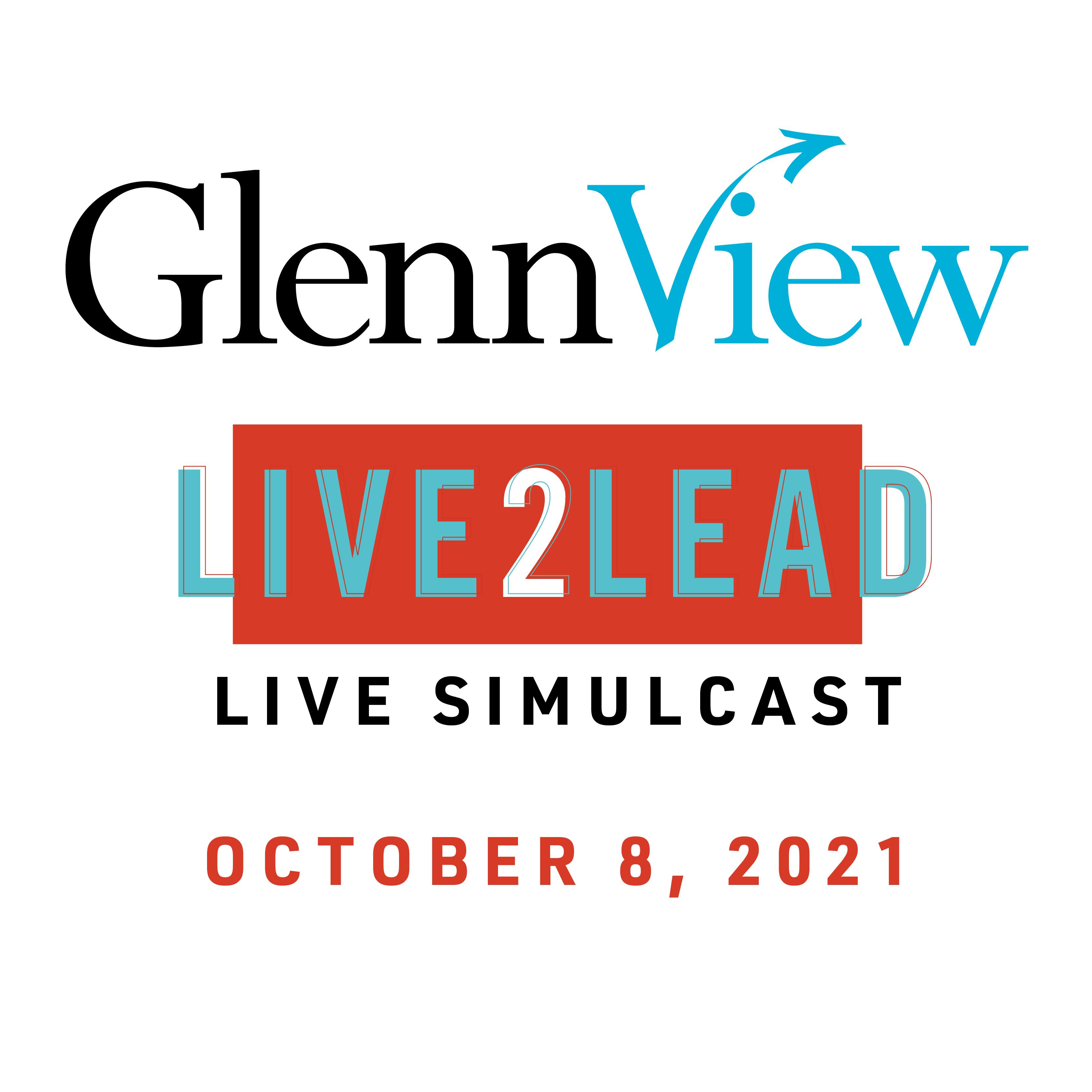 GlennView Live2Lead Live Simulcast logo