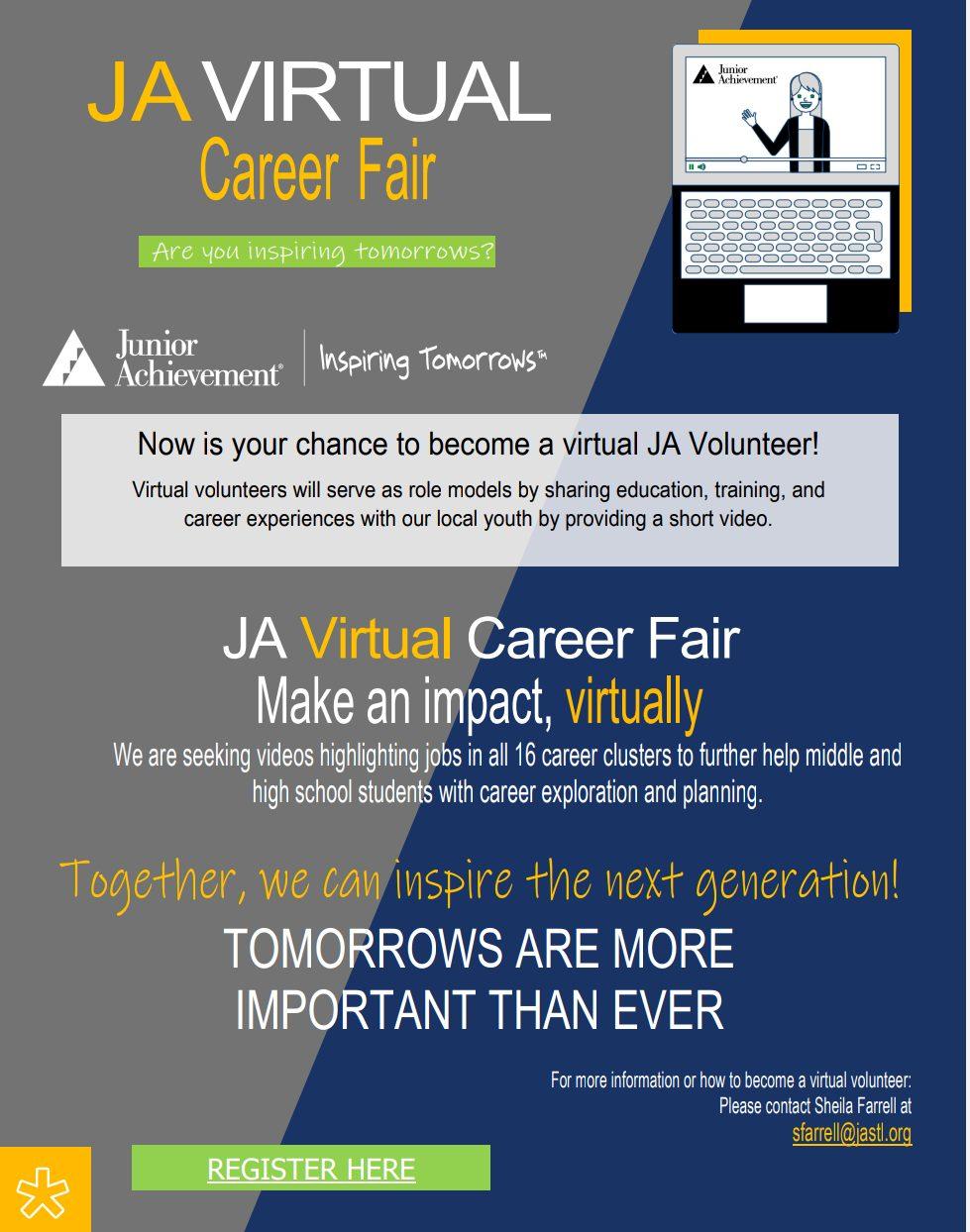 JA VCF volunteer flyer 2021-22