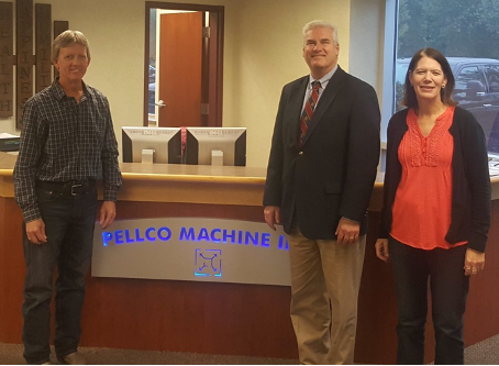 A visit from Representative Tom Emmer, R-MN 6th District, to Pellco Machine in St. Michael in 2018 was coordinated by MMA staff.