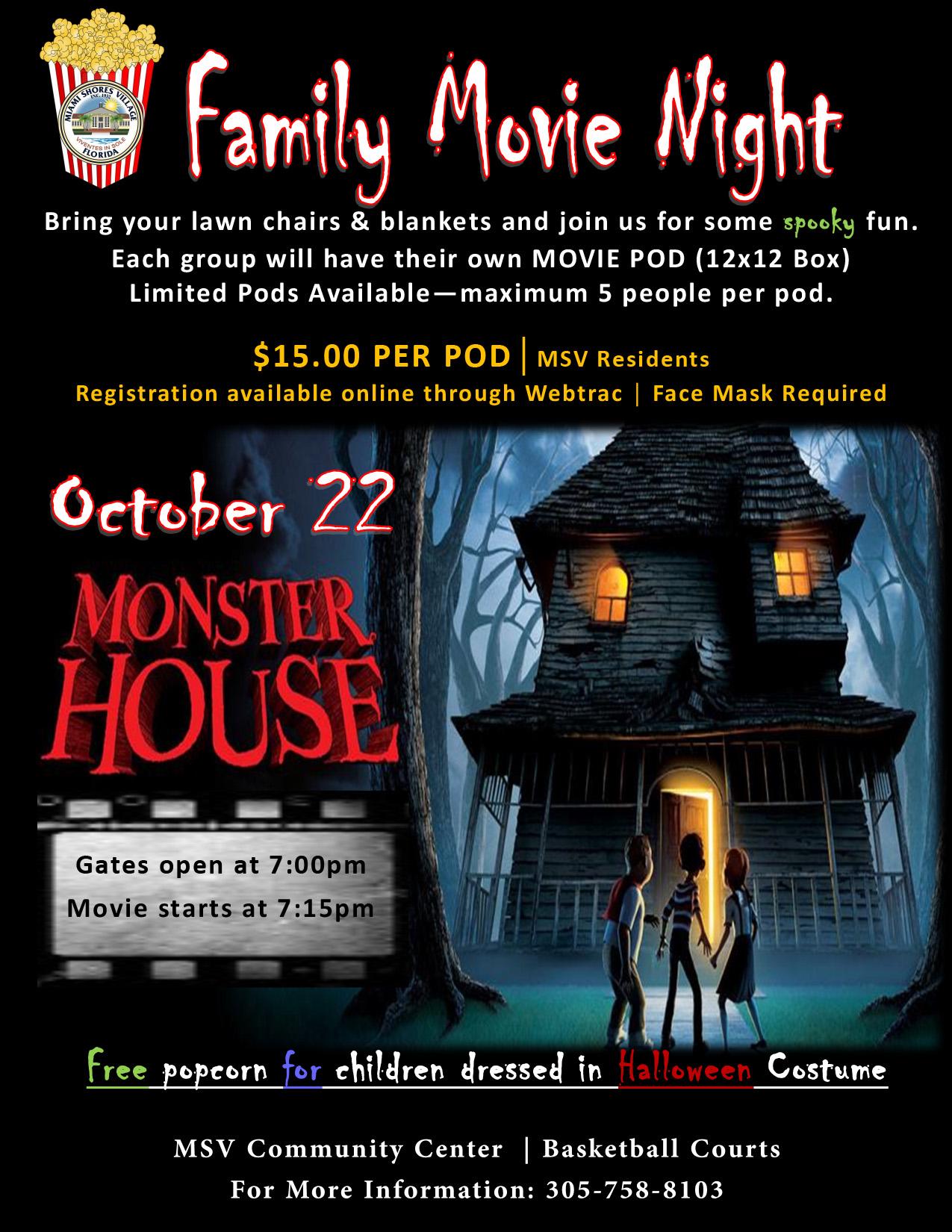 Halloween Movie night 1022 Monster House