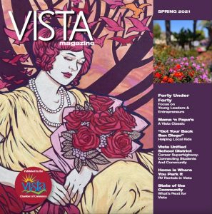 An image of the Vista Magazine Cover featuring Margarita Fisher Pollard