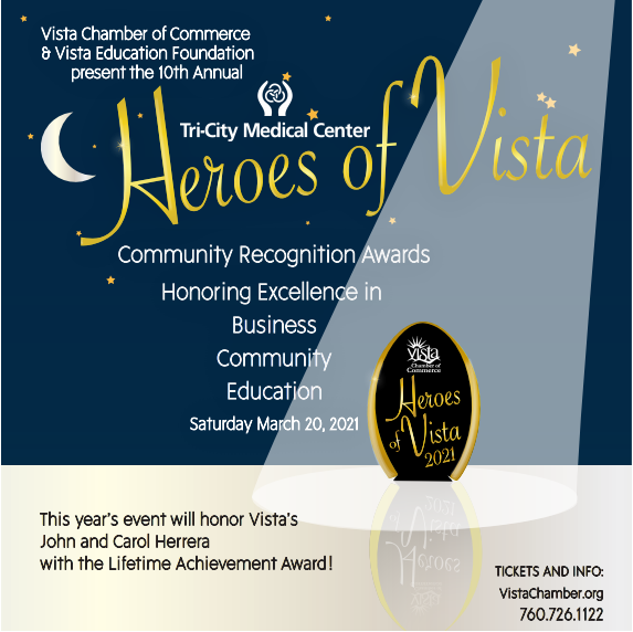 An ad for the Heroes of Vista event