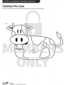 Clothes Pin Cow WM