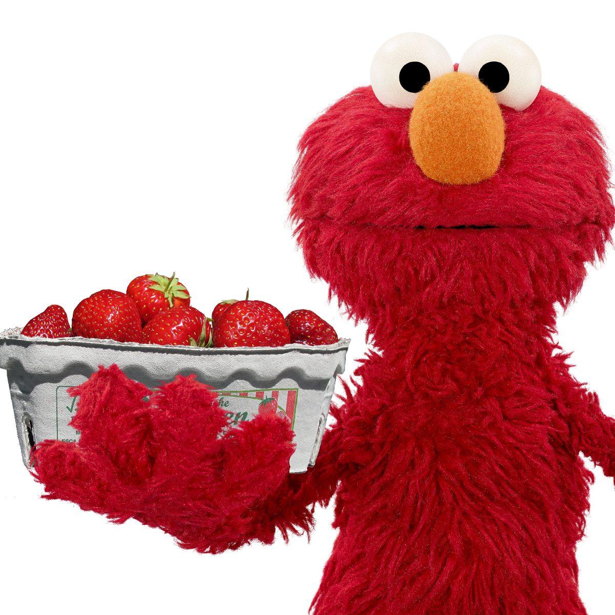 Elmo Strawberry Pops