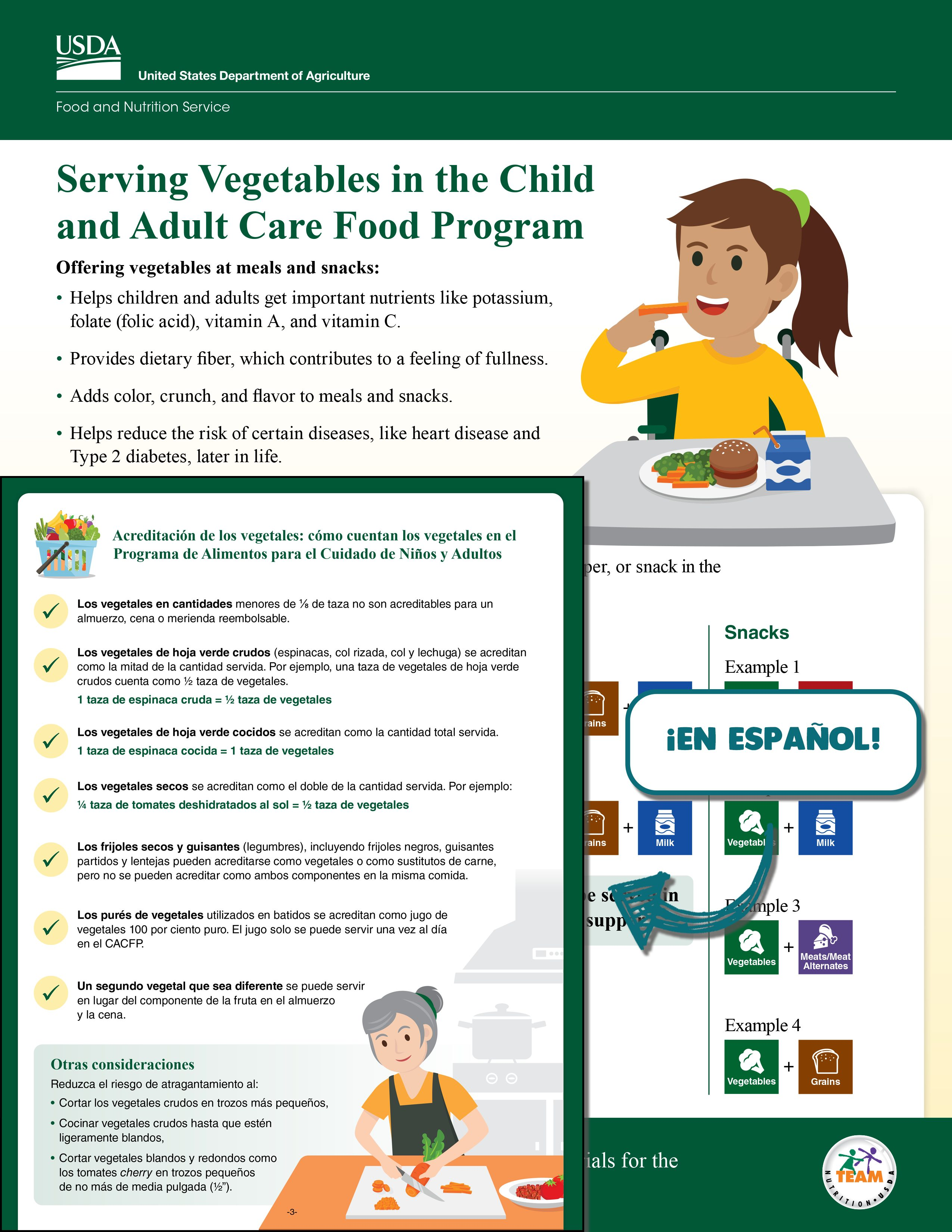 Serving vegetables