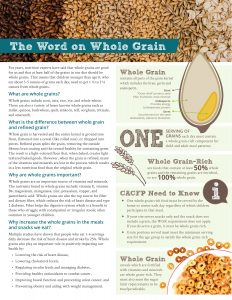 Word on whole grain