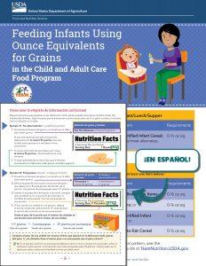 feeding infants oz equivalent