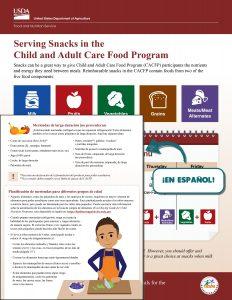 serving snacks