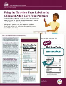 usingnutrition facts label