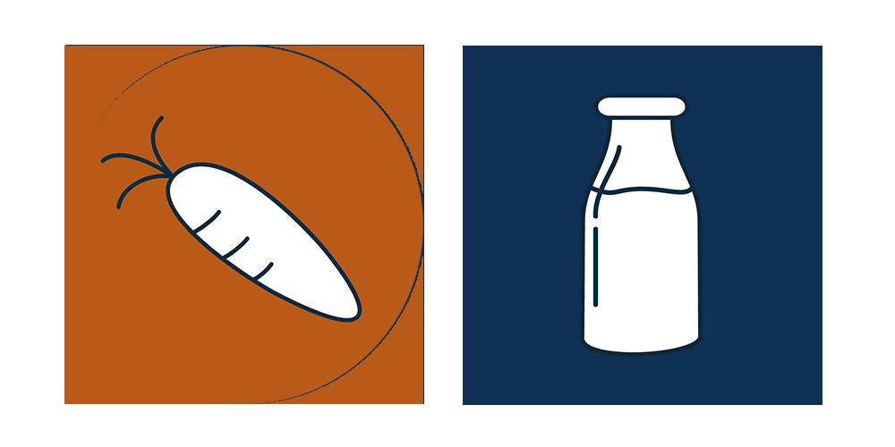 veg and milk