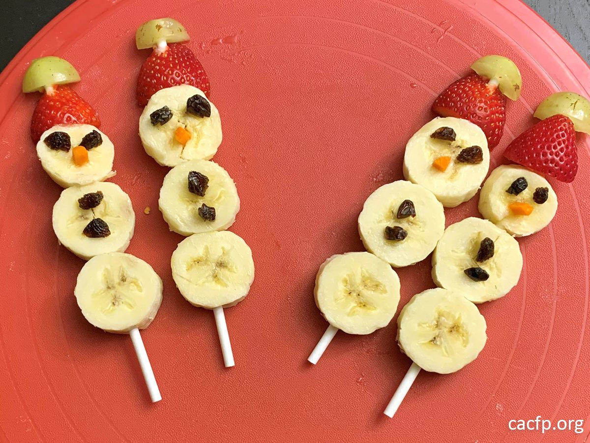 Banana Snowmen