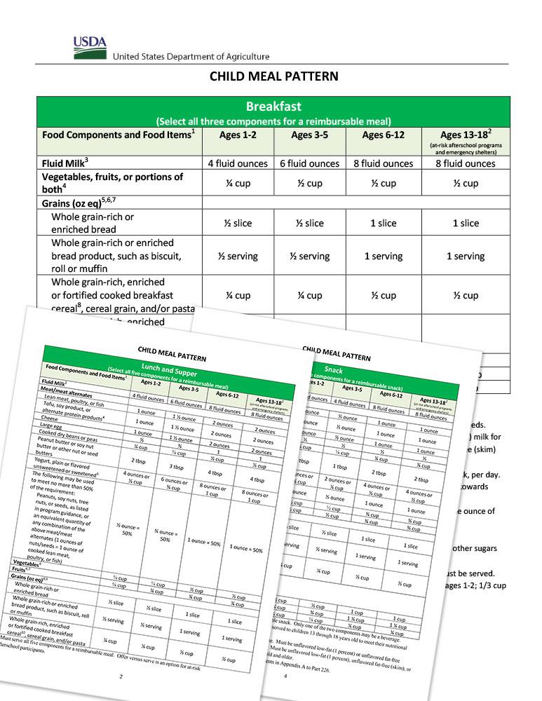 Child-Meal-Pattern-USDA