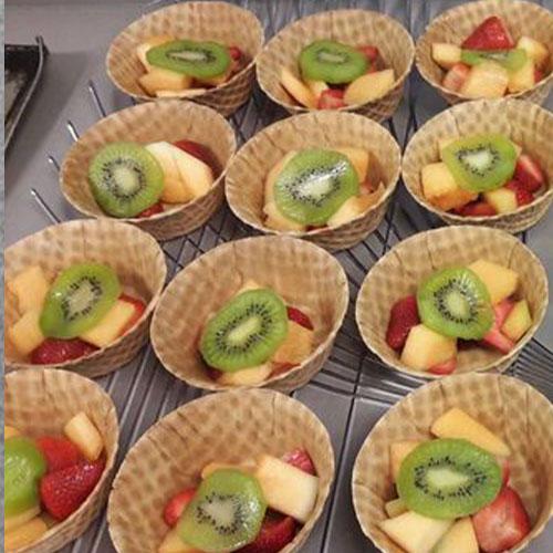 Nehemiah Center Houston - Waffle Cone Bowls with Fresh Fruit