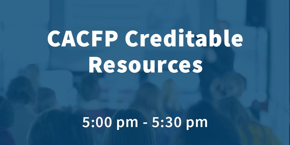 Wednesday - Creditable Resources