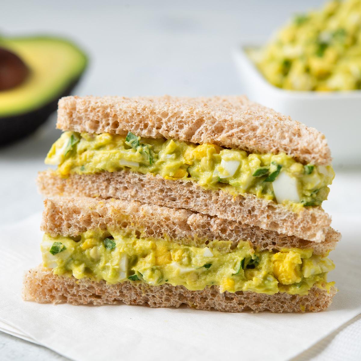 Egg Salad Finger Sandwich