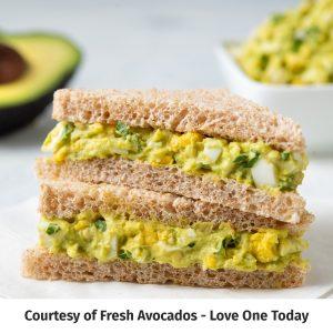 Egg Salad sandwich branded