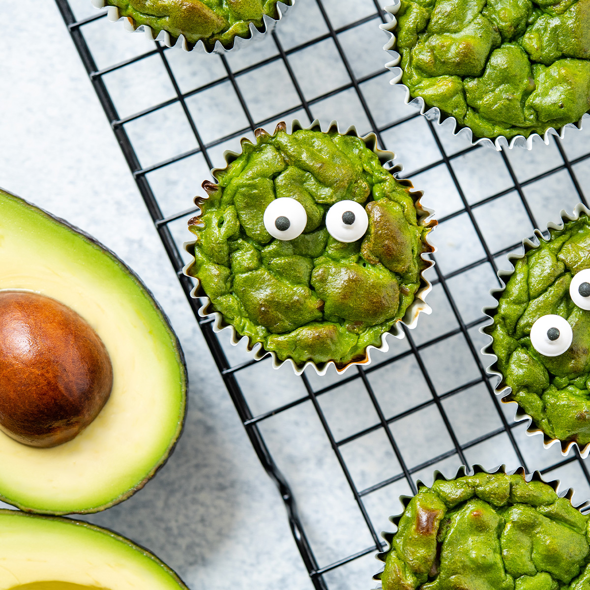 Monster Green Avocado Ham and Egg Bites