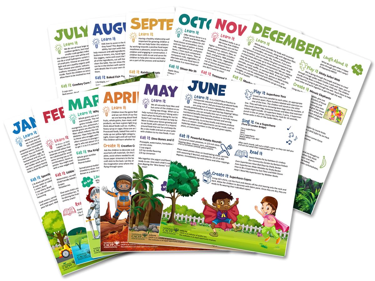 Activity Sheets Calendar