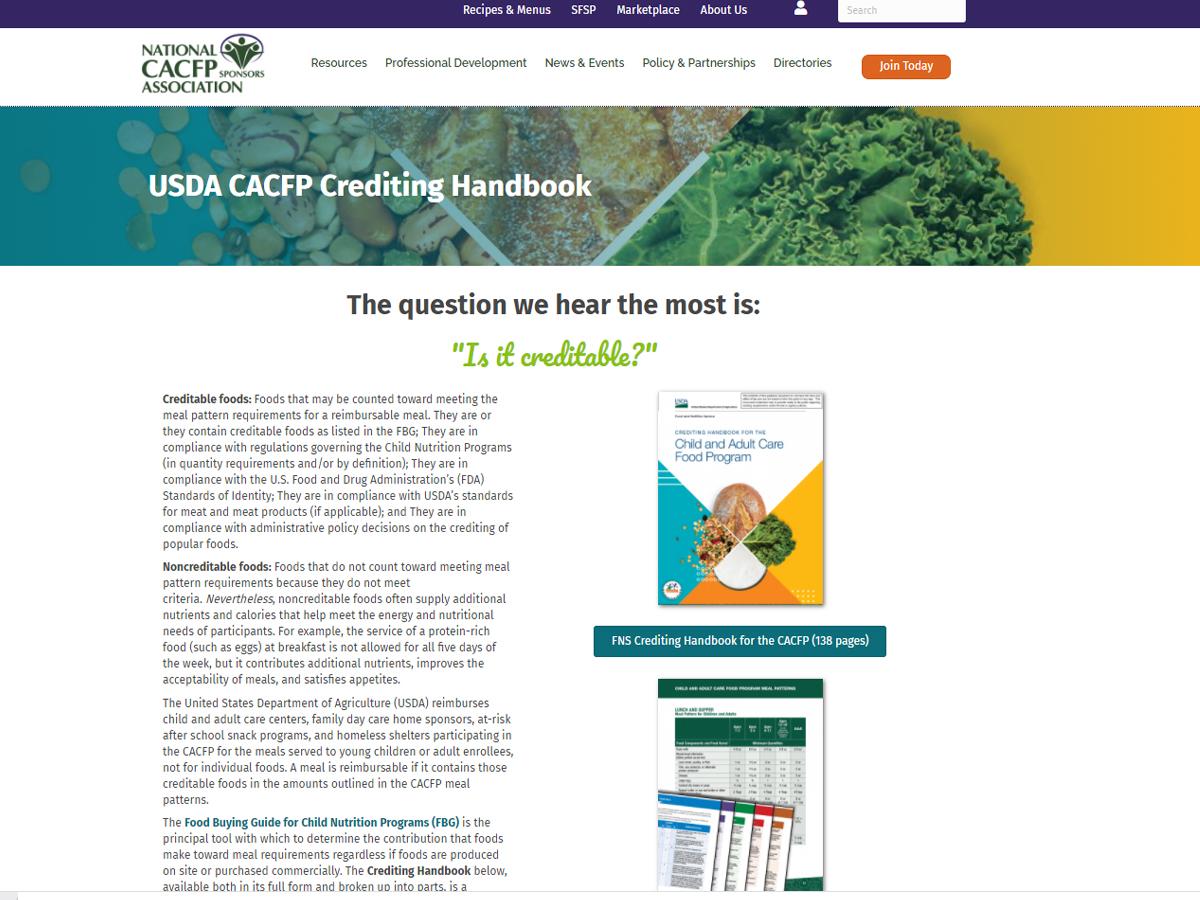 Crediting Handbook