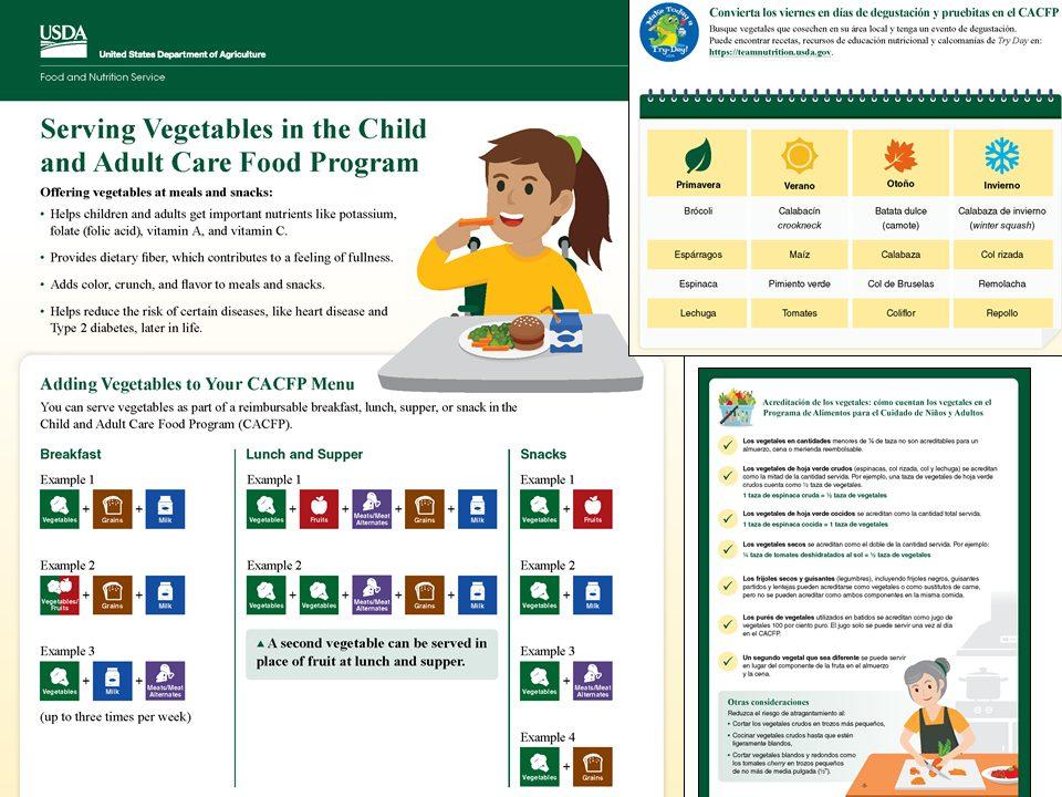 Serving Vegetables in the CACFP Worksheet cacfp.org