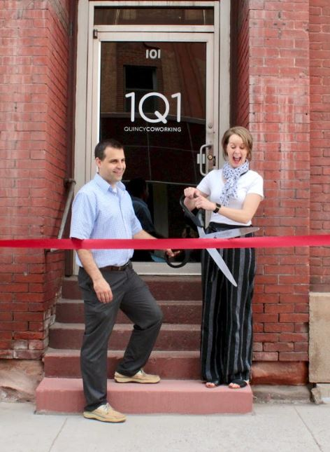 1Q1 Quincy Coworking ribbon cutting