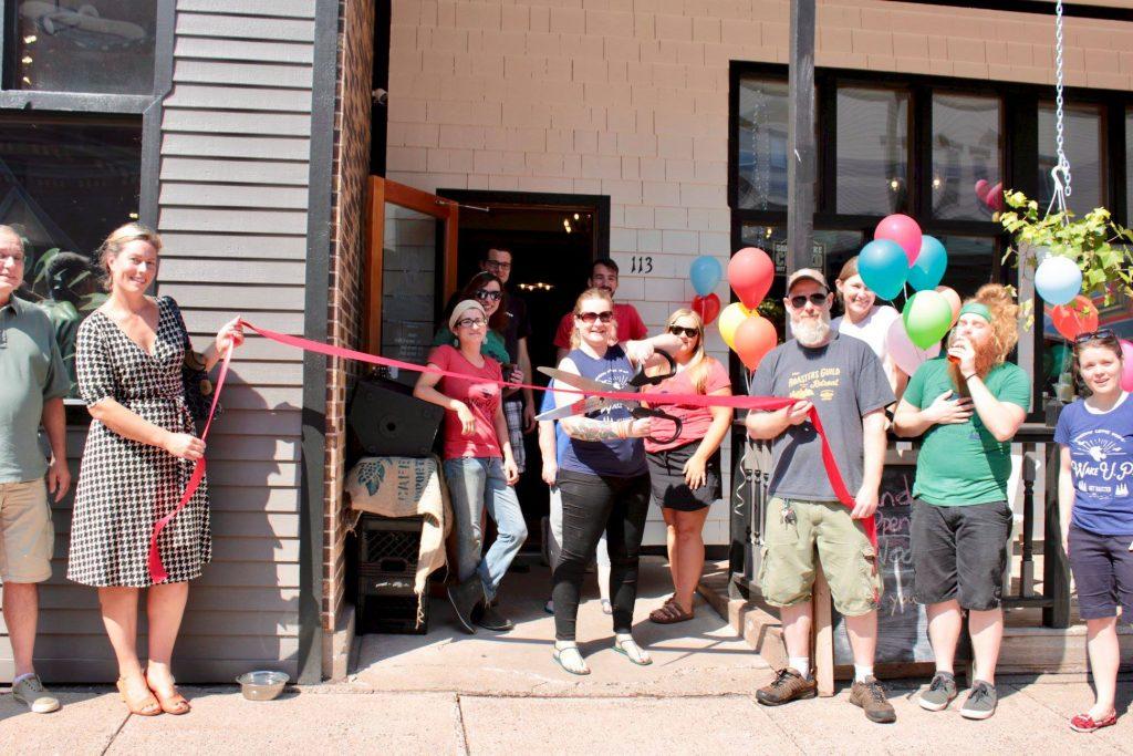Keweenaw Coffee Works ribbon cutting