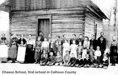 Chason School, first school in Calhoun County