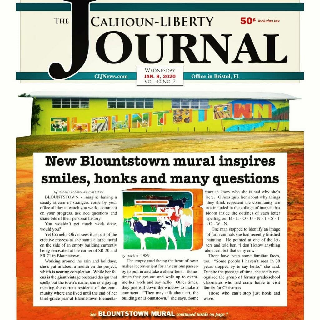 Calhoun-Liberty Journal front page article
